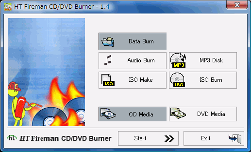Fireman CD/DVD Burner : CD/DVD/mp3CDISO